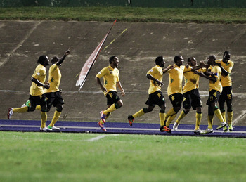 Jamaica celebrates its victory over the USA