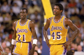 AC Green and Michael Cooper were formidable defenders for the Lakers.