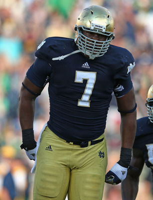 Notre Dame sophomore defensive end Stephon Tuitt.