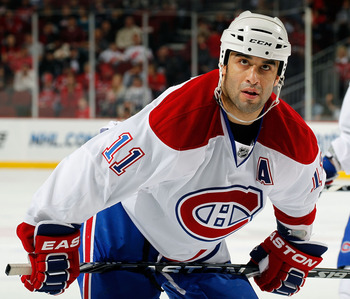 Scott Gomez of the Montreal Canadiens.