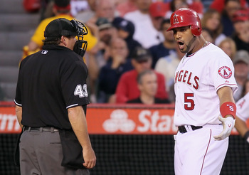 Albert Pujols frustrated with home plate umpire