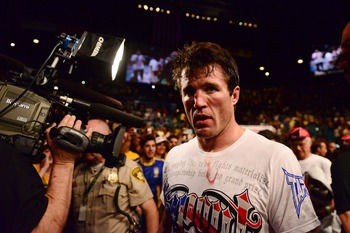 Chael Sonnen after his second loss to Anderson Silva.