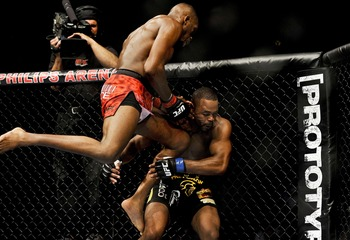 Jones defended his belt against Rashad Evans at UFC 145.
