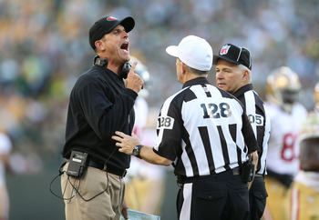 Head Coach Jim Harbaugh had issues with the officials