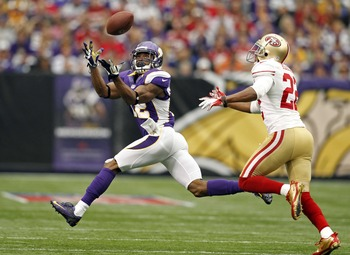Percy Harvin had nine catches for the Vikings