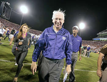 Kansas State's Bill Snyder smiles as his team cracks the Top 10 in both major polls.