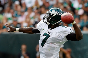 Despite poor performances, Michael Vick has the Philadelphia Eagles perched atop the NFC East standings.