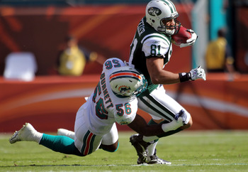 Hey, this is the only picture of a Dolphins LB against the Jets on Getty Images.
