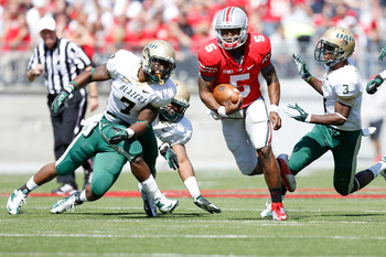 Braxton Miller runs against UAB