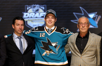 Tomas Hertl was selected by the Sharks with the 17th overall pick in the 2012 NHL draft.