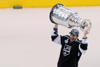 Slava Voynov Raising The Cup for the LA Kings