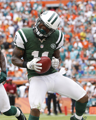 Kerley's averaging 23 yards a catch and has two touchdowns for the Jets.