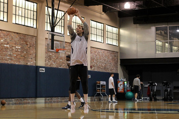 Dirk putting in the work, leading by example.
