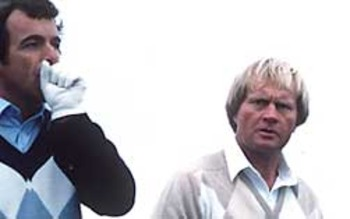 Jack Nicklaus (right) made history with Tony Jacklin in 1969.