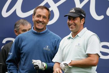 Seve Ballesteros (left) and Jose Maria Olazabal: a super formidable duo.