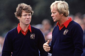 Tom Watson (left) and Jack Nicklaus led a strong U.S. team in 1981.