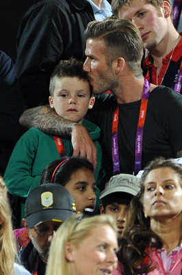 David Beckham with the love