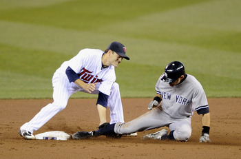 Ichiro slides into second base during a Sept. 25 game against the Minnesota Twins