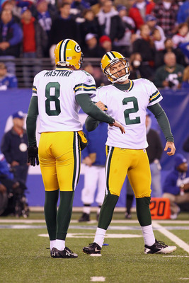 Tim Masthay (left) and Mason Crosby