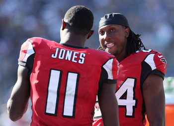 Julio Jones (11) and Roddy White (84) are two of the NFL's most physical receivers.