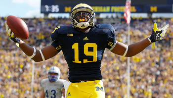 True freshman Devin Funchess has been a pleasant surprise through the Michigan Wolverines first four games.