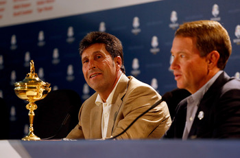 Jose Maria Olazabal and Davis Love want the Ryder Cup