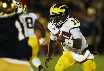 Denard Robinson is still electrifying, despite poor showing against Notre Dame.