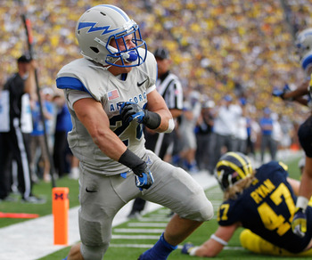 Cody Getz has 461 yards rushing for Air Force this year.