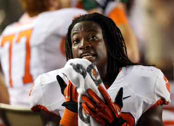 Andre Ellington has 383 rushing yards for Clemson.