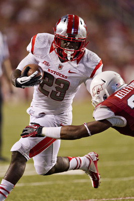 Jawan Jamison had 118 yards rushing in Rutgers win over Arkansas.