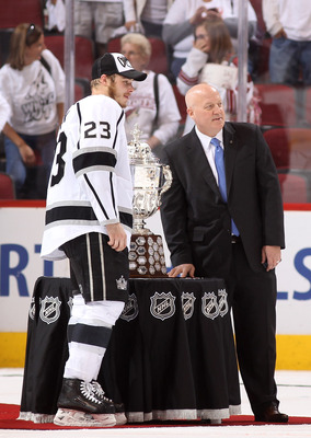 The L.A. Kings, current holders of the Clarence Campbell Bowl, came into existence with Campbell's approval.