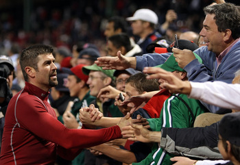 Varitek was always a fan favorite at Fenway.