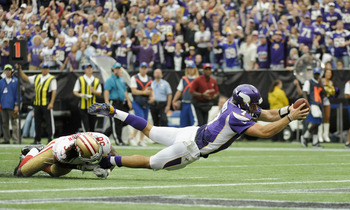 Christian Ponder dives for end zone vs. 49ers
