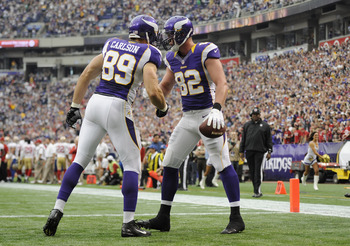 Kyle Rudolph had two TD catches in Week 3