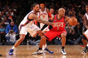 Tyson Chandler goes for the steal during a game against the New Jersey Nets on Dec. 21, 2011