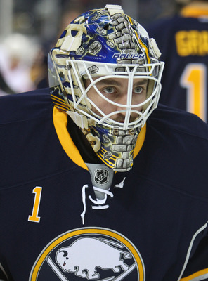 Enroth filled in for Ryan Miller after the Milan Lucic incident.