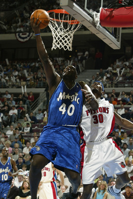 Back in the mid '90s it would have been his elbow above the rim, instead of his hand below it.