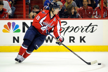 Nicklas Backstrom, center, Washington Capitals