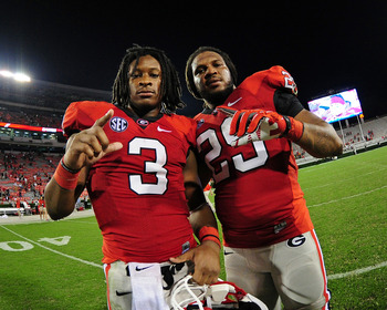 Georgia RB Todd Gurley (left) and LB Jarvis Jones (right)