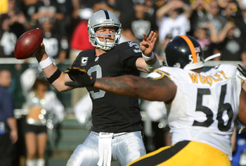 Palmer's audibles helped the Raiders offense tremendously vs Pittsburgh