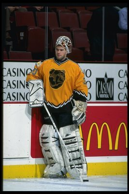 Jim Carey was about as big a bust to the Bruins as this jersey. Incomprehensibly, the jersey lasted about a decade longer.