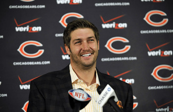 Jay Cutler can be Jeklle and Hyde in the press conference room.