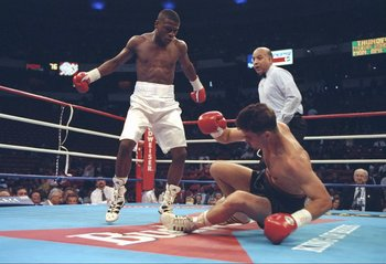Mayweather knocked out Bobby Giepert in the first round.