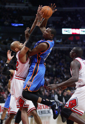Taj Gibson [L] would fit in perfectly with the young Thunder.