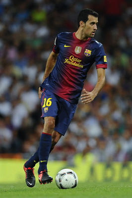 Sergio Busquets, ungainly and graceful at the same time.