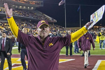 How are things, Jerry Kill? Oh wait, they're good?
