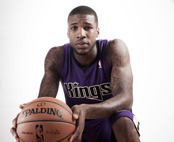 TARRYTOWN, NY - AUGUST 21:  Thomas Robinson #0 of the Sacramento Kings poses for a portrait during the 2012 NBA Rookie Photo Shoot at the MSG Training Center on August 21, 2012 in Tarrytown, New York. NOTE TO USER: User expressly acknowledges and agrees t