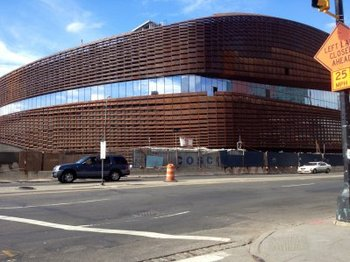 What's that rusty mess? The Nets' new arena. Credit: businessinsider.com