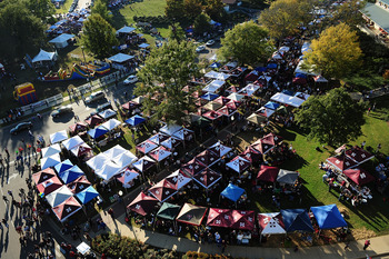 STARKVILLE, MS - OCTOBER 24:  Fans of the Mississippi State Bulldogs football team tailgate outside Davis Wade Stadium before taking on the Florida Gators on October 24, 2009 in Starkville, Mississippi.  (Photo by Rick Dole/Getty Images)