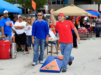 JACKSONVILLE, FL - OCTOBER 29:  Fans tailgate prior to the game between the Georgia Bulldogs and the Florida Gators at EverBank Field on October 29, 2011 in Jacksonville, Florida.  (Photo by Sam Greenwood/Getty Images)